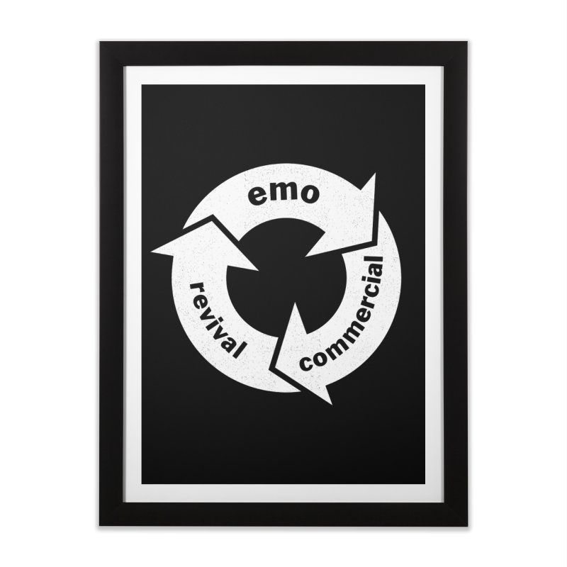 Emo Cycle  Home Framed Fine Art Print by Washed Up Emo