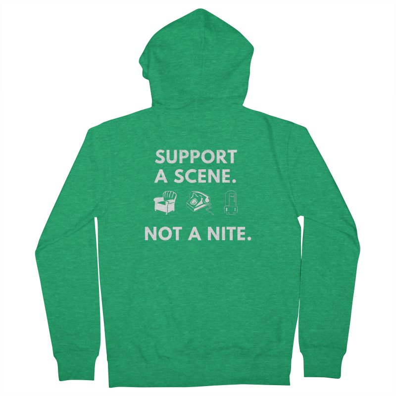 Support Your Scene Men's Zip-Up Hoody by Washed Up Emo