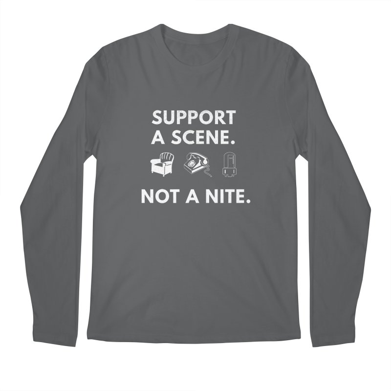 Support Your Scene Men's Longsleeve T-Shirt by Washed Up Emo