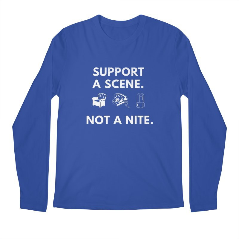 Support Your Scene Men's Regular Longsleeve T-Shirt by Washed Up Emo