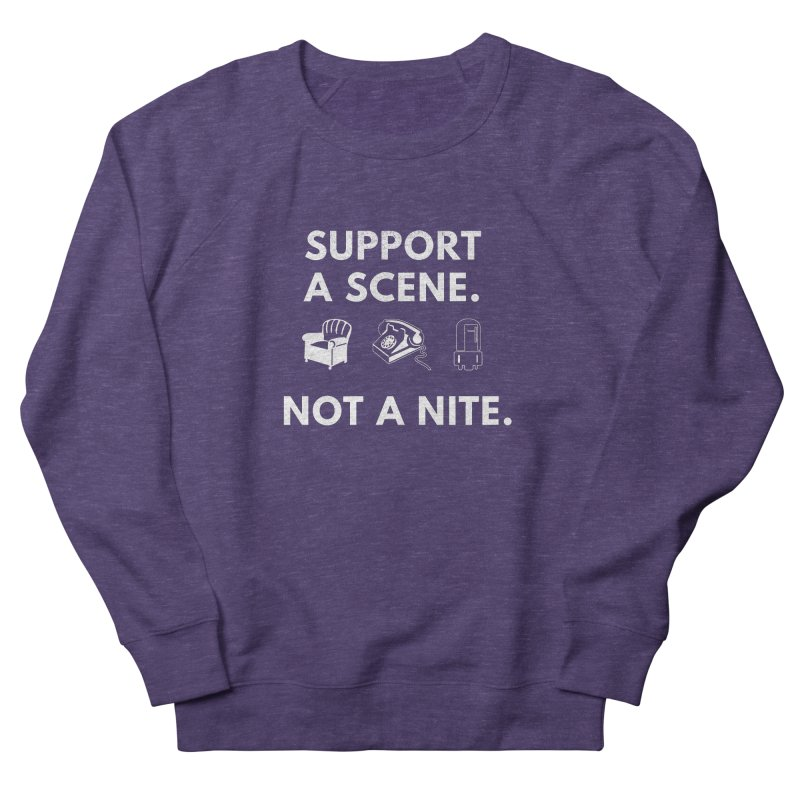 Support Your Scene Men's French Terry Sweatshirt by Washed Up Emo