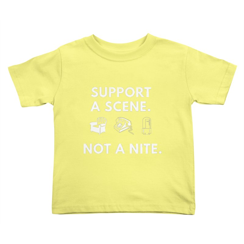 Support Your Scene Kids Toddler T-Shirt by Washed Up Emo