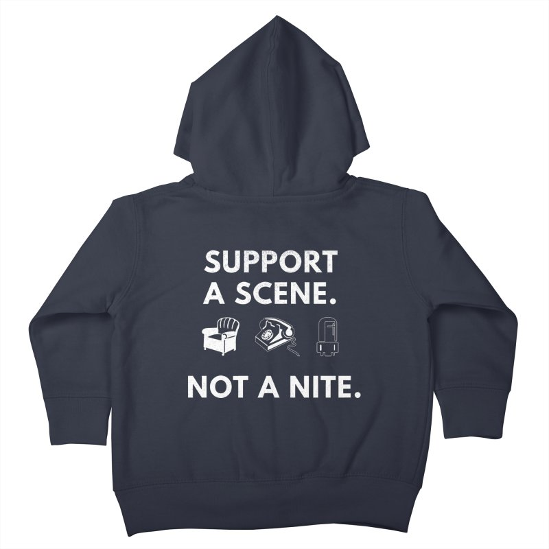 Support Your Scene Kids Toddler Zip-Up Hoody by Washed Up Emo
