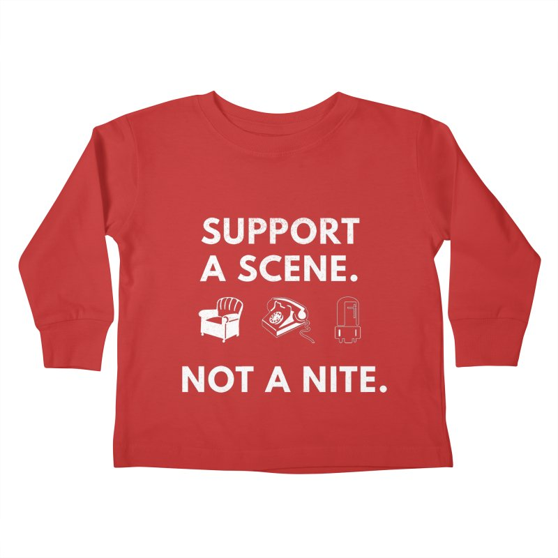 Support Your Scene Kids Toddler Longsleeve T-Shirt by Washed Up Emo