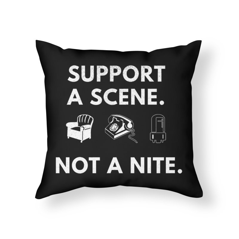 Support Your Scene Home Throw Pillow by Washed Up Emo