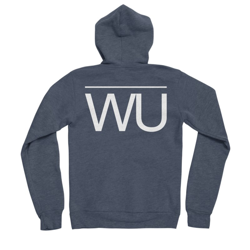 Washed Up - Letters Men's Sponge Fleece Zip-Up Hoody by Washed Up Emo