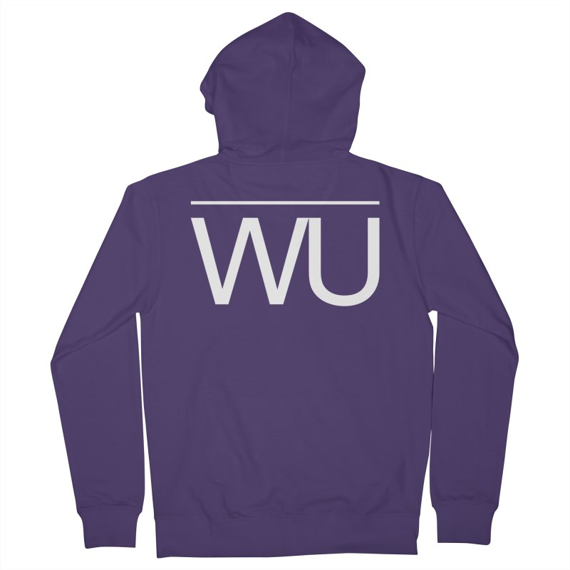 Washed Up - Letters Women's French Terry Zip-Up Hoody by Washed Up Emo