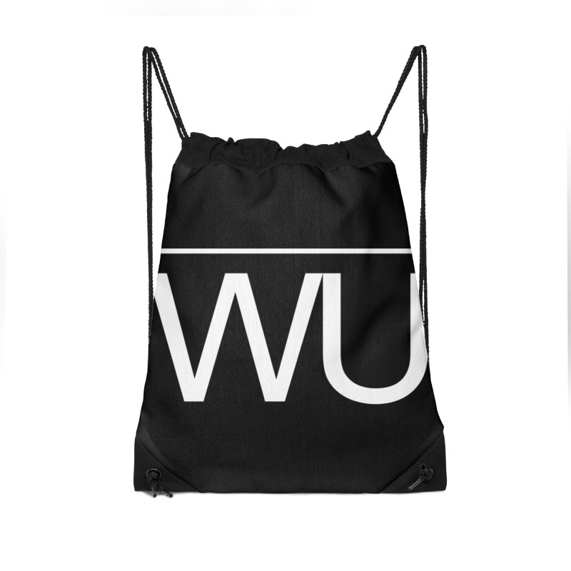 Washed Up - Letters Accessories Drawstring Bag Bag by Washed Up Emo