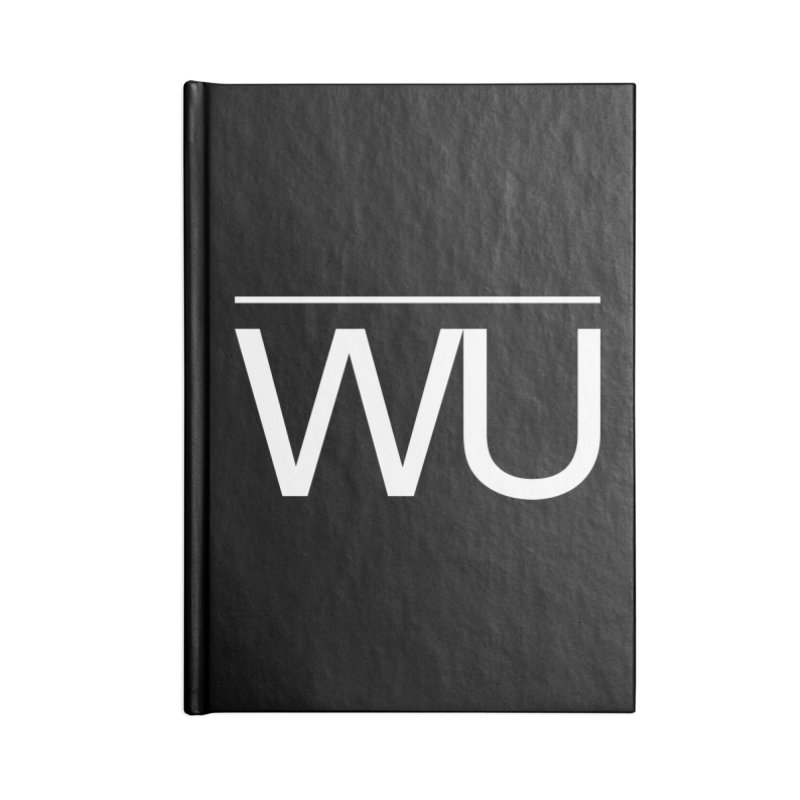 Washed Up - Letters Accessories Blank Journal Notebook by Washed Up Emo