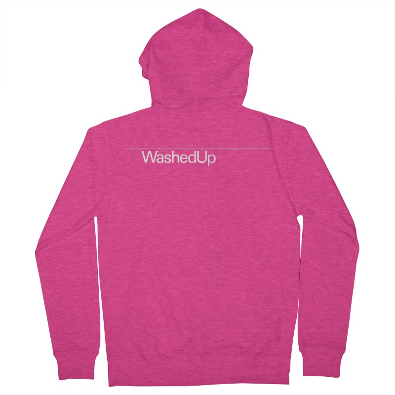 Washed Up - Words Women's French Terry Zip-Up Hoody by Washed Up Emo