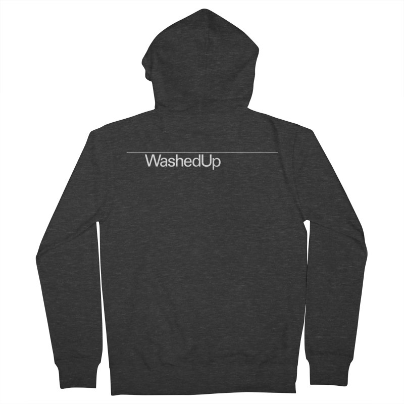 Washed Up - Words Men's French Terry Zip-Up Hoody by Washed Up Emo