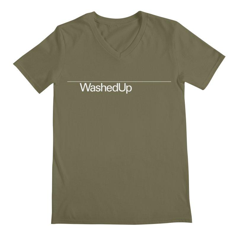 Washed Up - Words Men's Regular V-Neck by Washed Up Emo