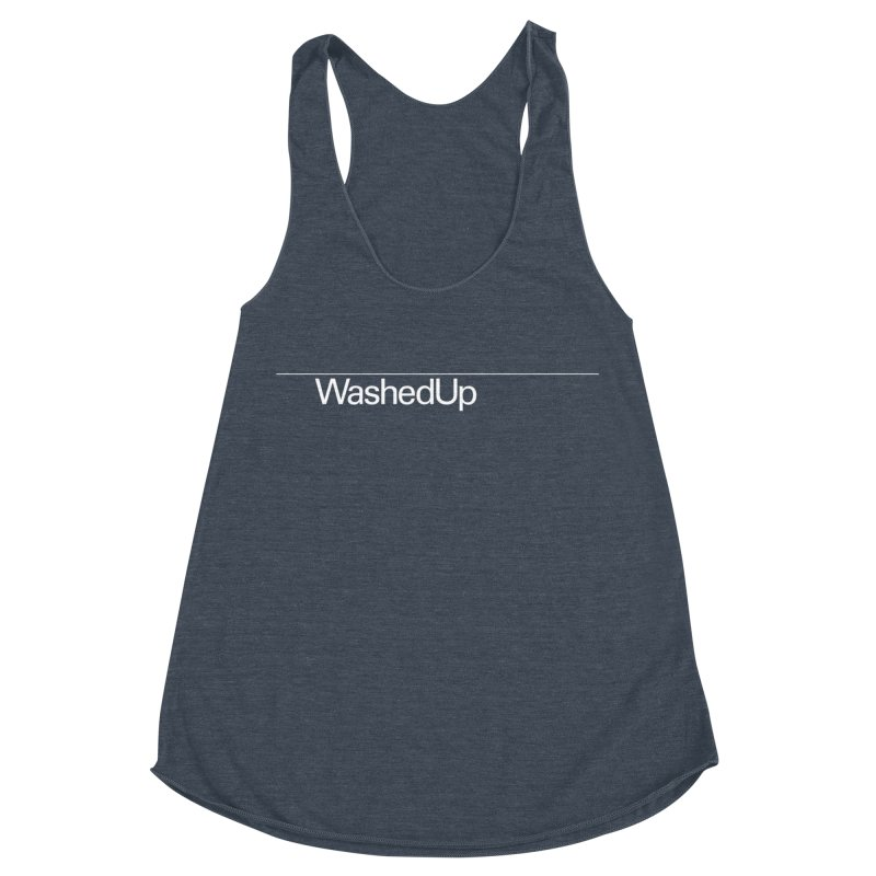 Washed Up - Words Women's Racerback Triblend Tank by Washed Up Emo