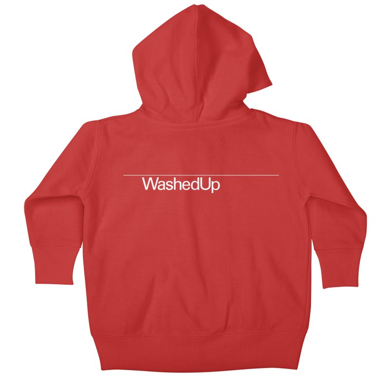 Washed Up - Words Kids Baby Zip-Up Hoody by Washed Up Emo
