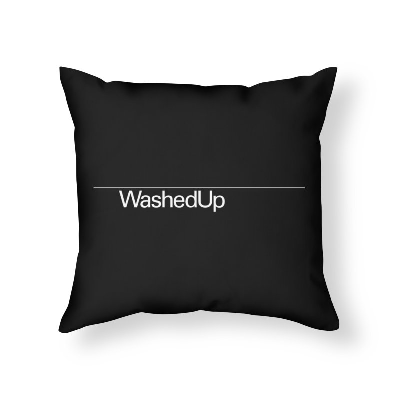 Washed Up - Words Home Throw Pillow by Washed Up Emo