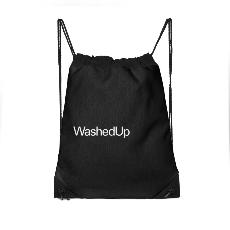 Washed Up - Words Accessories Drawstring Bag Bag by Washed Up Emo