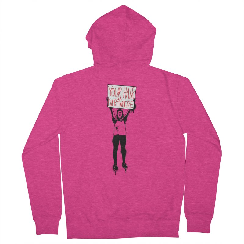 Trump Protester - Your Hair Is Everywhere  Women's French Terry Zip-Up Hoody by Washed Up Emo