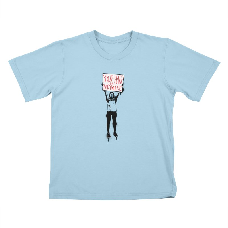 Trump Protester - Your Hair Is Everywhere  Kids T-Shirt by Washed Up Emo