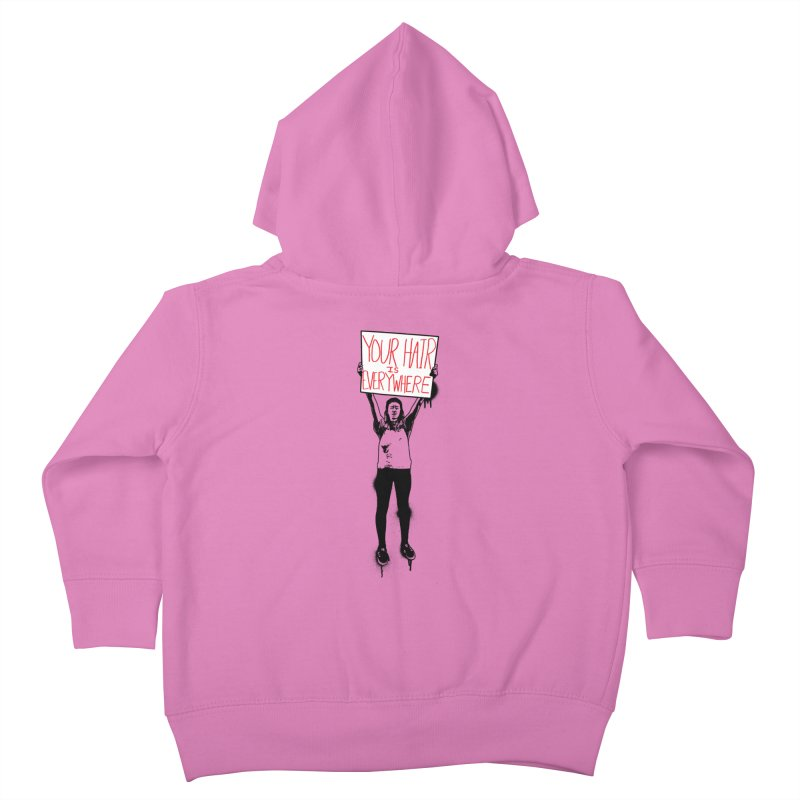 Trump Protester - Your Hair Is Everywhere  Kids Toddler Zip-Up Hoody by Washed Up Emo