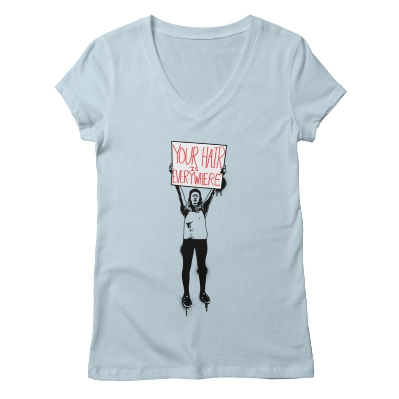 Trump Protester - Your Hair Is Everywhere  Women's Regular V-Neck by Washed Up Emo