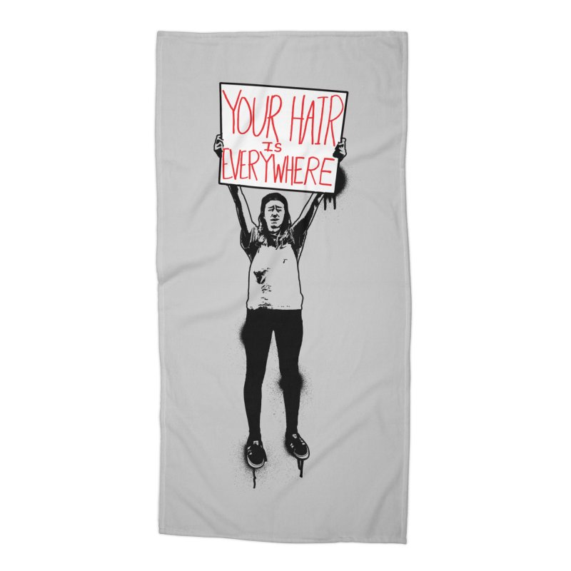 Trump Protester - Your Hair Is Everywhere  Accessories Beach Towel by Washed Up Emo