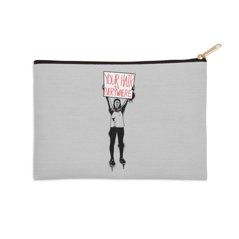 Trump Protester - Your Hair Is Everywhere  Accessories Zip Pouch by Washed Up Emo
