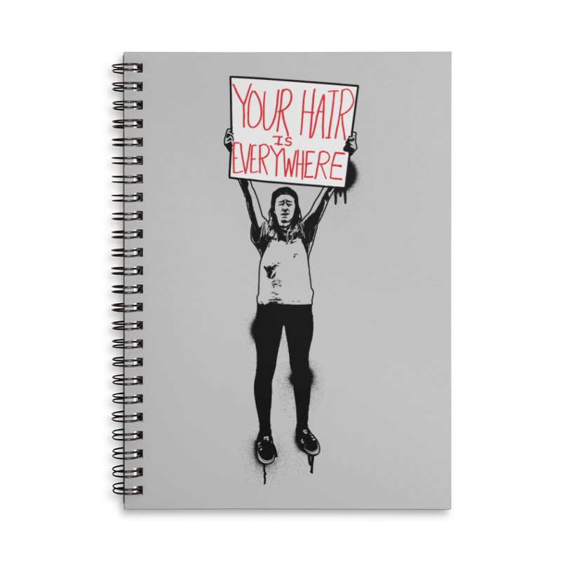 Trump Protester - Your Hair Is Everywhere  Accessories Lined Spiral Notebook by Washed Up Emo