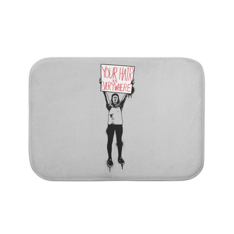 Trump Protester - Your Hair Is Everywhere  Home Bath Mat by Washed Up Emo