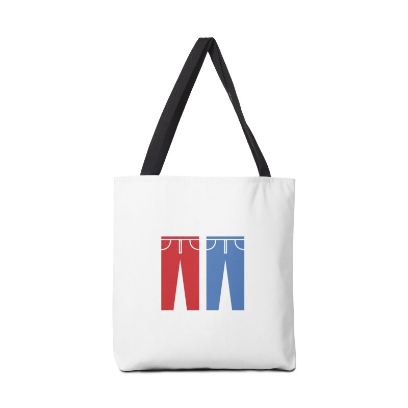 Red and Blue Jeans - Print Accessories Tote Bag Bag by Washed Up Emo