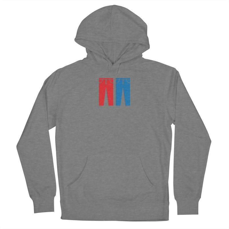 Red and Blue Jeans - Apparel  Women's Pullover Hoody by Washed Up Emo