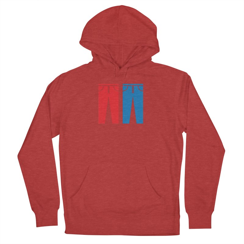 Red and Blue Jeans - Apparel  Women's French Terry Pullover Hoody by Washed Up Emo