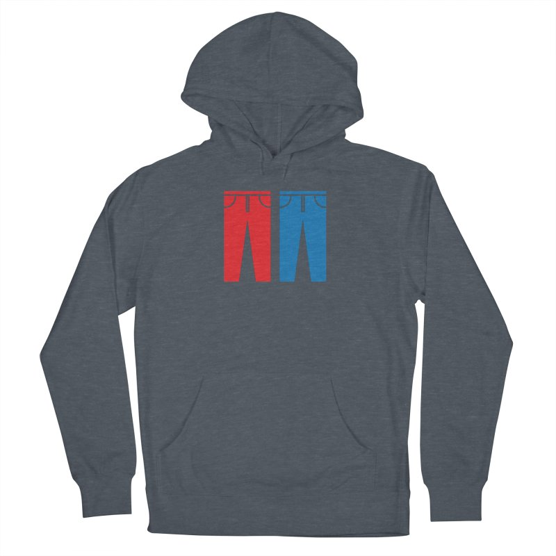 Red and Blue Jeans - Apparel  Men's French Terry Pullover Hoody by Washed Up Emo