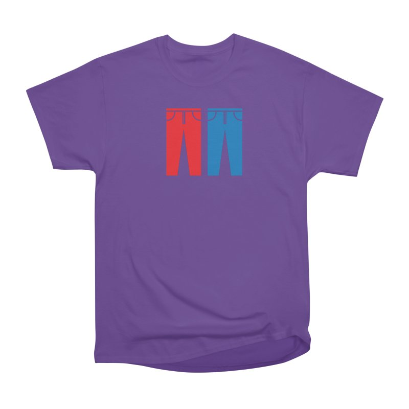 Red and Blue Jeans - Apparel  Women's Heavyweight Unisex T-Shirt by Washed Up Emo