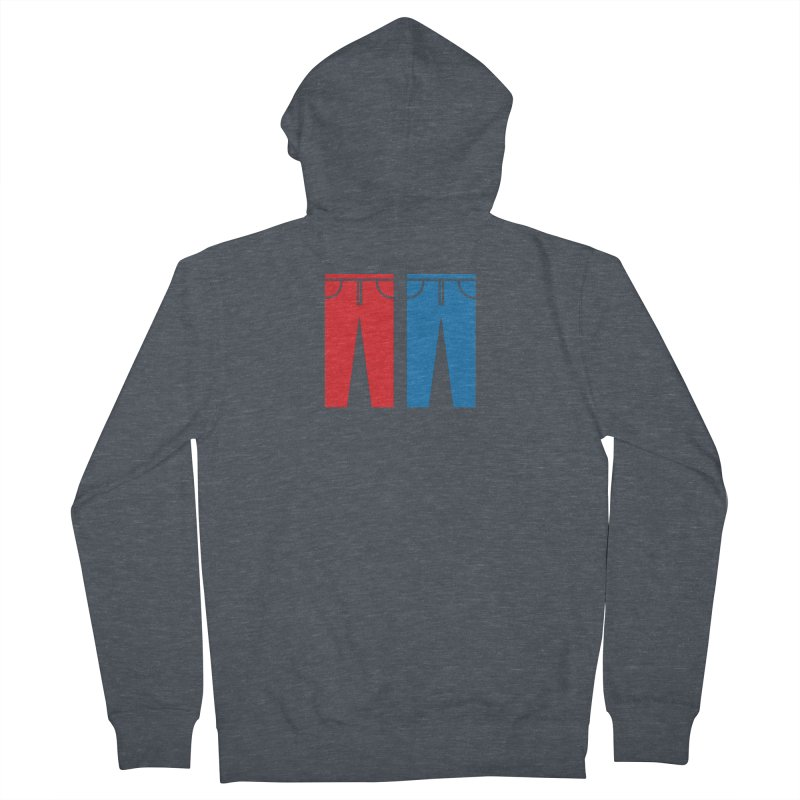 Red and Blue Jeans - Apparel  Women's French Terry Zip-Up Hoody by Washed Up Emo