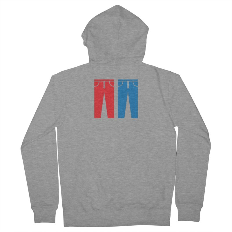 Red and Blue Jeans - Apparel  Men's French Terry Zip-Up Hoody by Washed Up Emo
