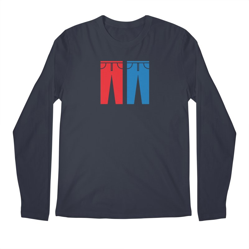 Red and Blue Jeans - Apparel  Men's Regular Longsleeve T-Shirt by Washed Up Emo