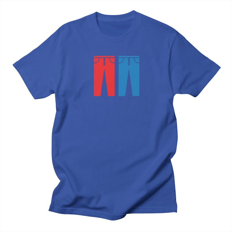 Red and Blue Jeans - Apparel  Men's Regular T-Shirt by Washed Up Emo