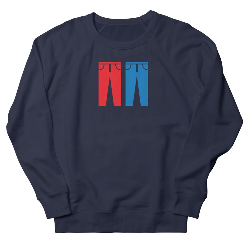 Red and Blue Jeans - Apparel  Men's French Terry Sweatshirt by Washed Up Emo