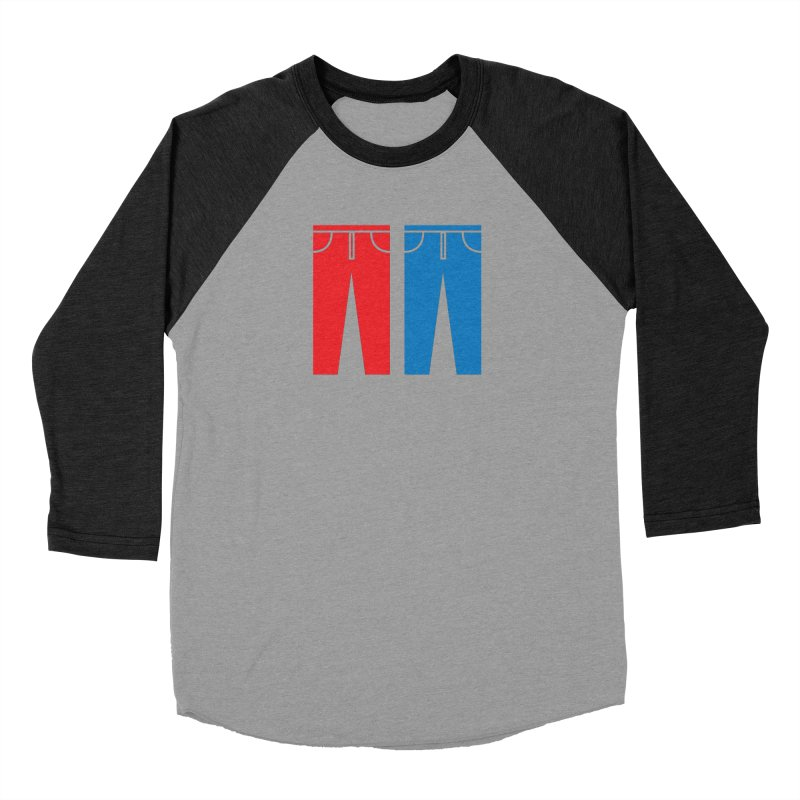 Red and Blue Jeans - Apparel  Women's Baseball Triblend Longsleeve T-Shirt by Washed Up Emo