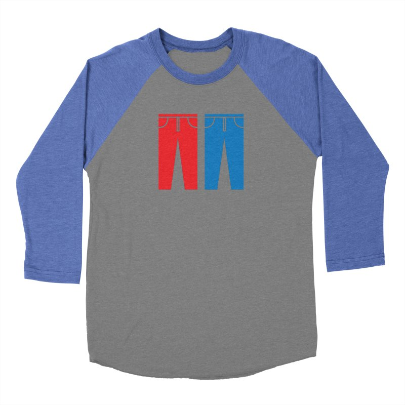 Red and Blue Jeans - Apparel  Men's Baseball Triblend Longsleeve T-Shirt by Washed Up Emo