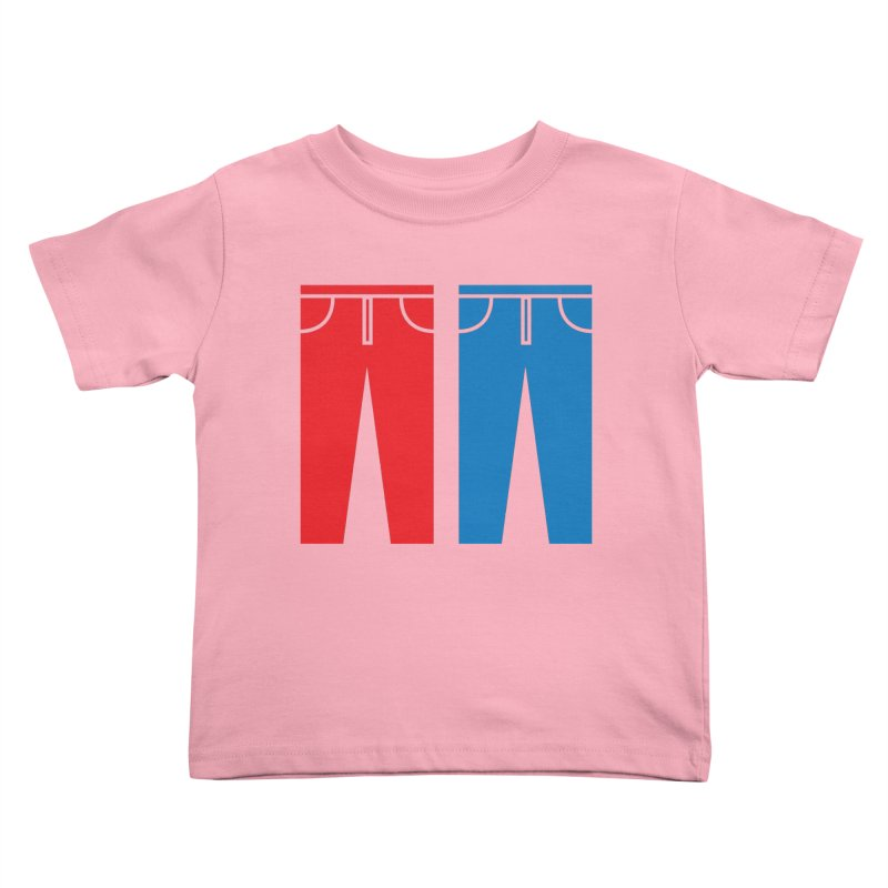 Red and Blue Jeans - Apparel  Kids Toddler T-Shirt by Washed Up Emo