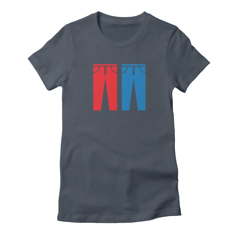Red and Blue Jeans - Apparel  Women's T-Shirt by Washed Up Emo