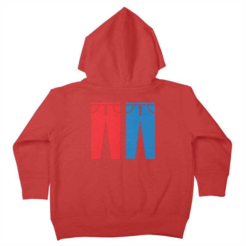 Red and Blue Jeans - Apparel  Kids Toddler Zip-Up Hoody by Washed Up Emo