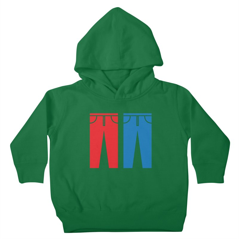 Red and Blue Jeans - Apparel  Kids Toddler Pullover Hoody by Washed Up Emo