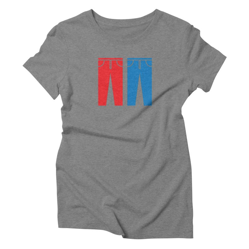 Red and Blue Jeans - Apparel  Women's Triblend T-Shirt by Washed Up Emo