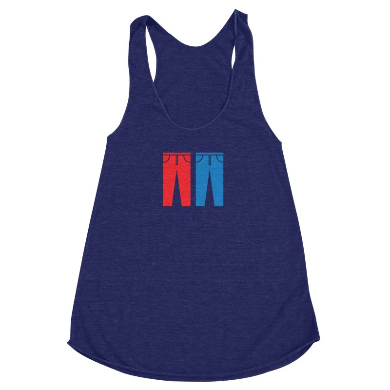 Red and Blue Jeans - Apparel  Women's Racerback Triblend Tank by Washed Up Emo