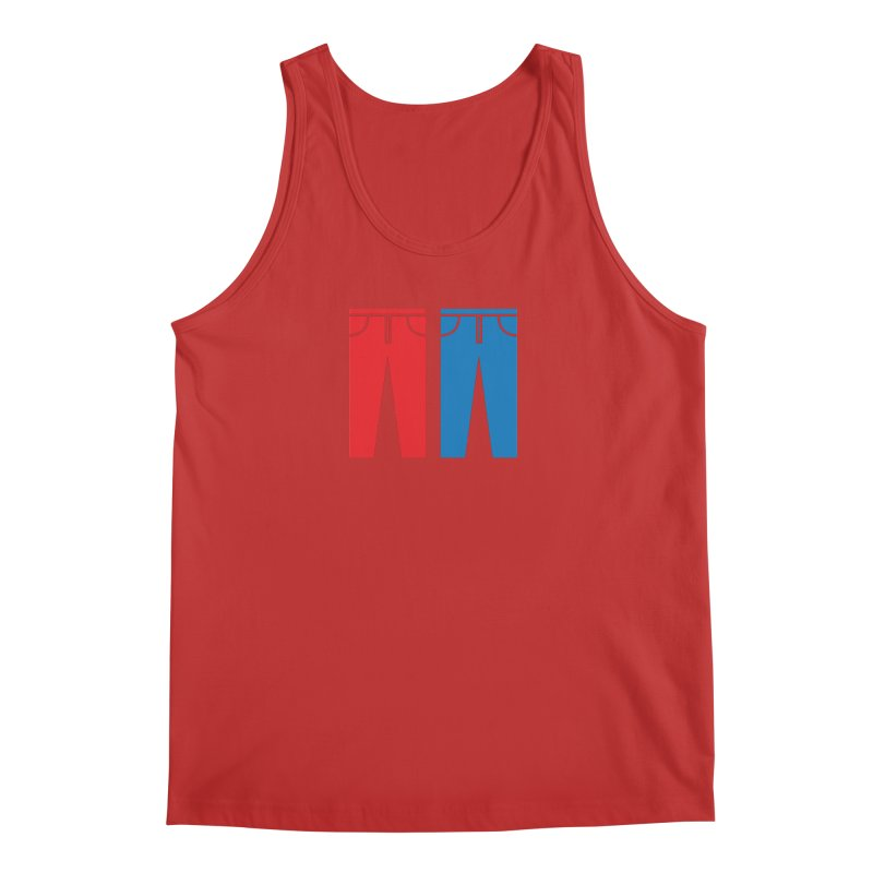 Red and Blue Jeans - Apparel  Men's Regular Tank by Washed Up Emo