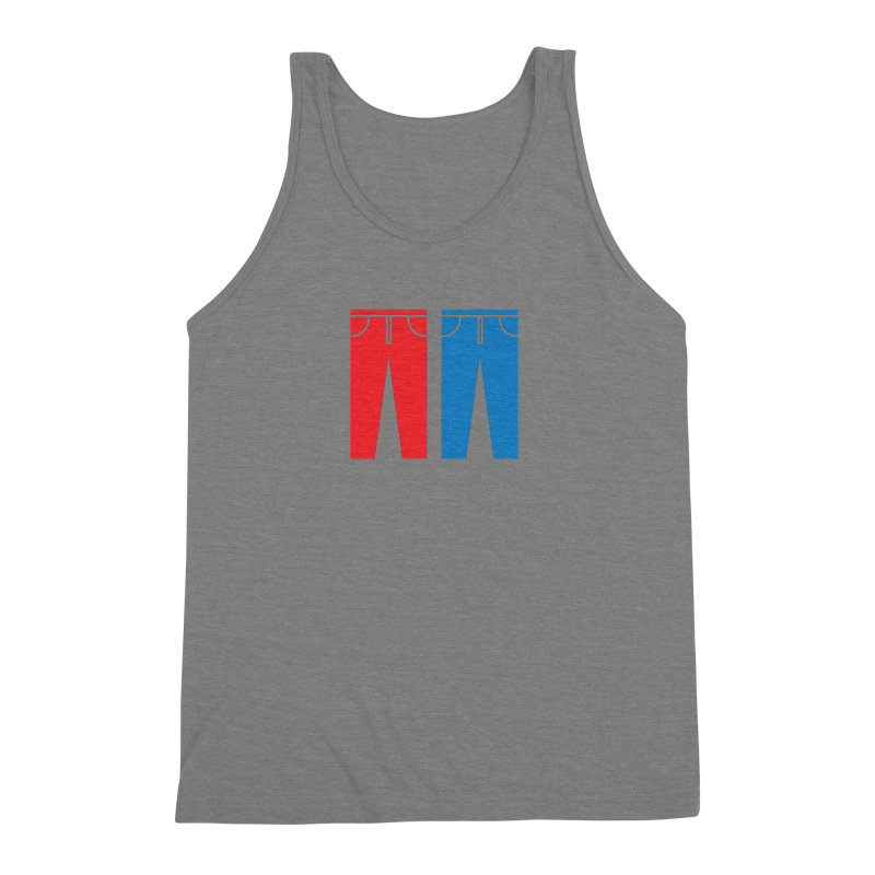 Red and Blue Jeans - Apparel  Men's Triblend Tank by Washed Up Emo