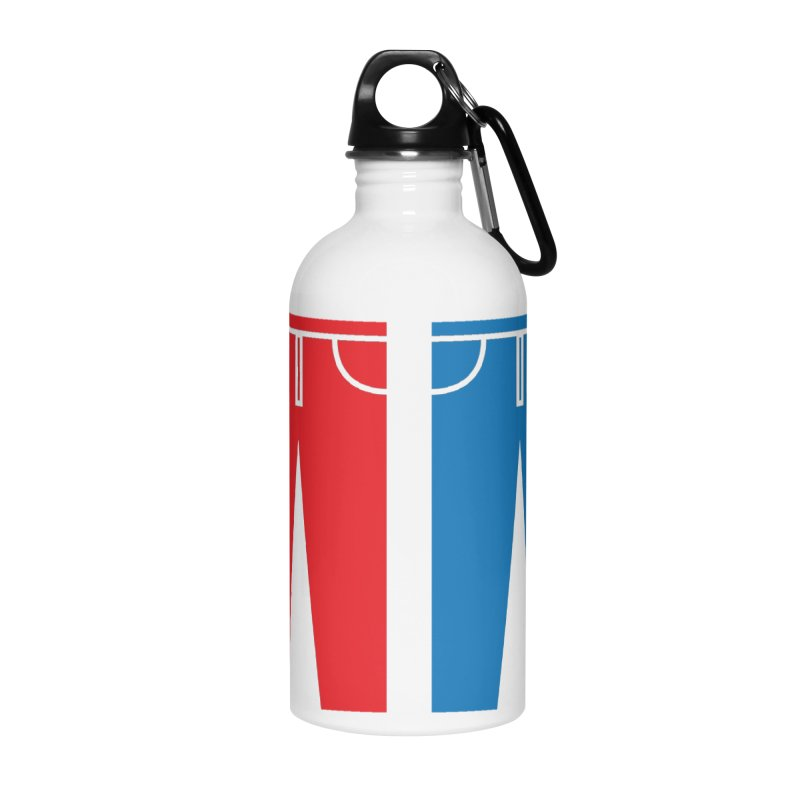 Red and Blue Jeans - Apparel  Accessories Water Bottle by Washed Up Emo