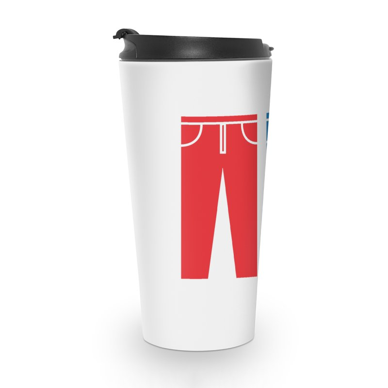 Red and Blue Jeans - Apparel  Accessories Mug by Washed Up Emo
